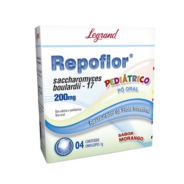 Repoflor 200mg com 4 envelopes- Legrand