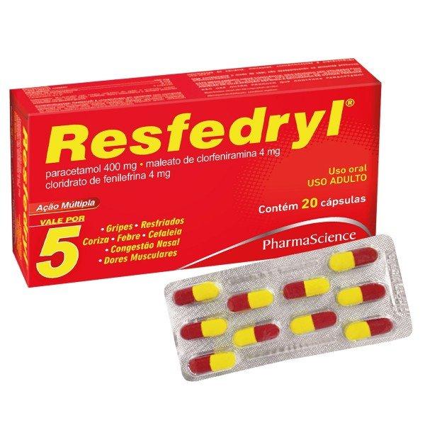 Resfedryl com 20 Cápsulas
