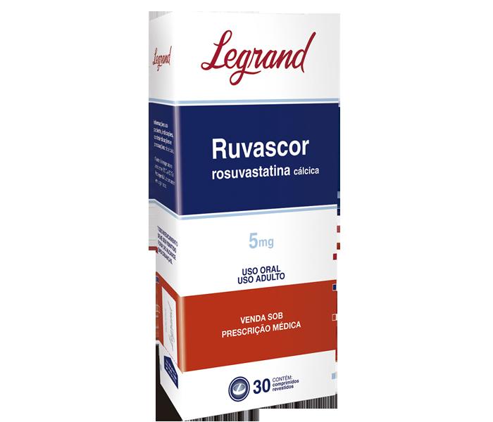 Ruvascor 5mg com 30 comprimidos - Legrand