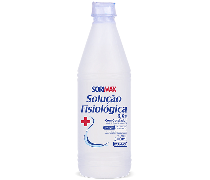 SORO FISIOLÓGICO SORIMAX 500ML - USO EXTERNO