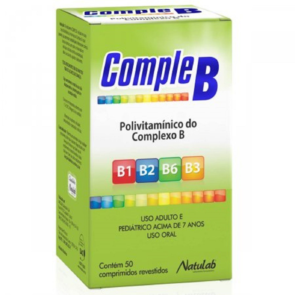 Suplemento Vitamínico Complexo B 50 Comprimidos