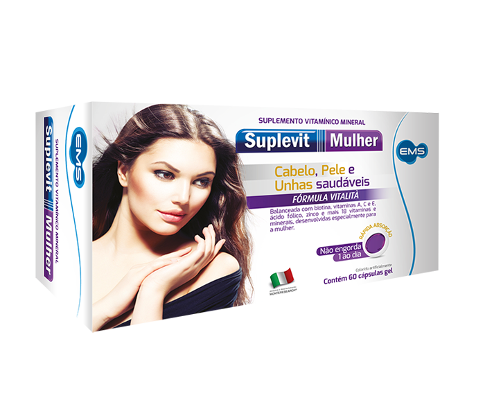 Suplevit Mulher com 60 cápsulas gel - EMS