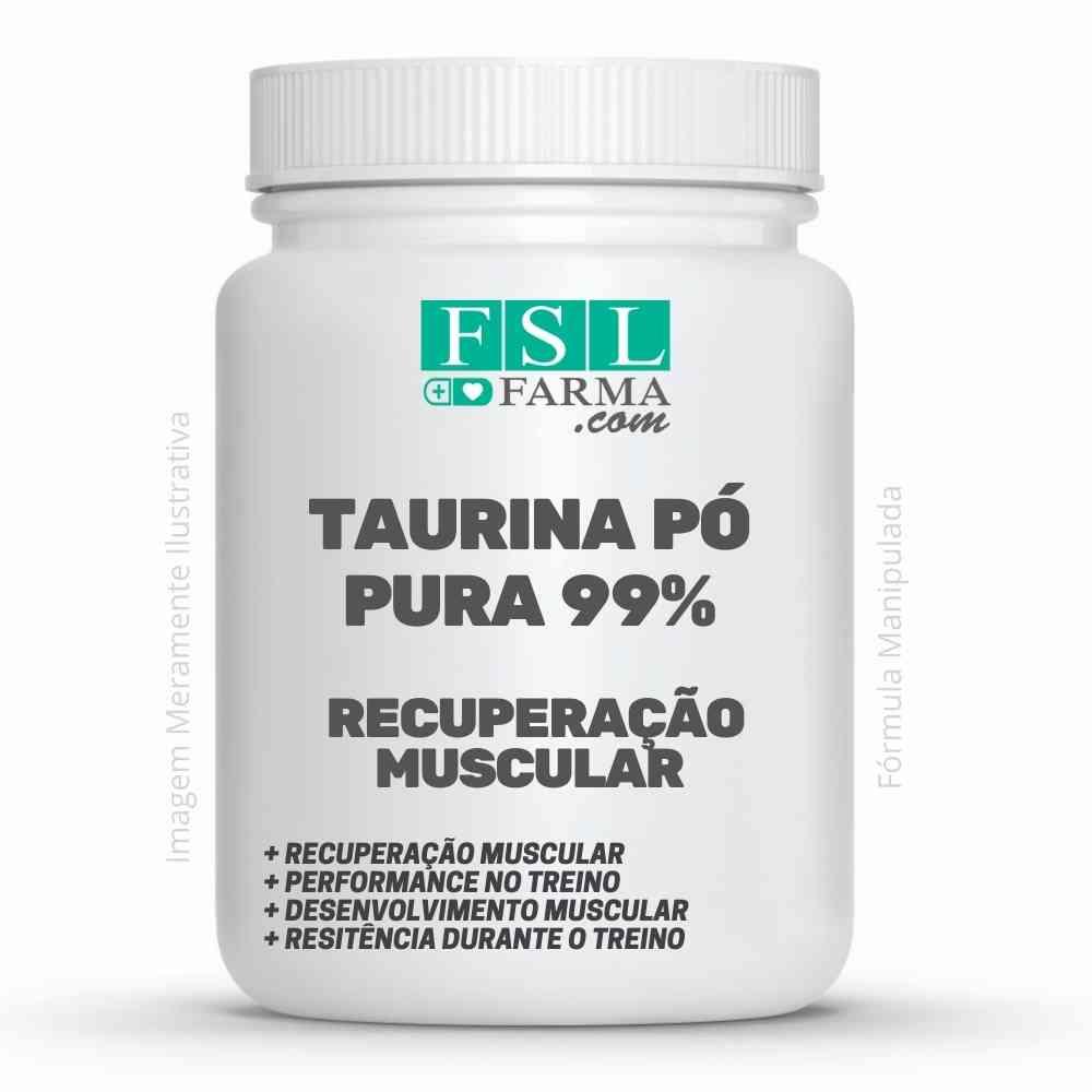 Taurina Pó Pura 99% Vegana - Recuperação Muscular ®