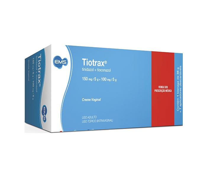 Tiotrax Creme Vaginal 35g com 7 aplicadores - EMS
