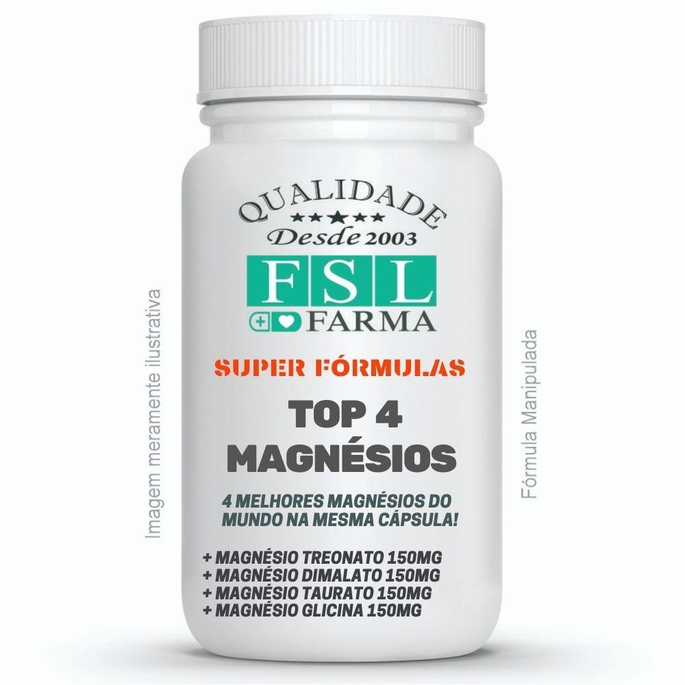Top 4 Magnésios (Treonato + Dimalato + Taurato + Glicina) ®
