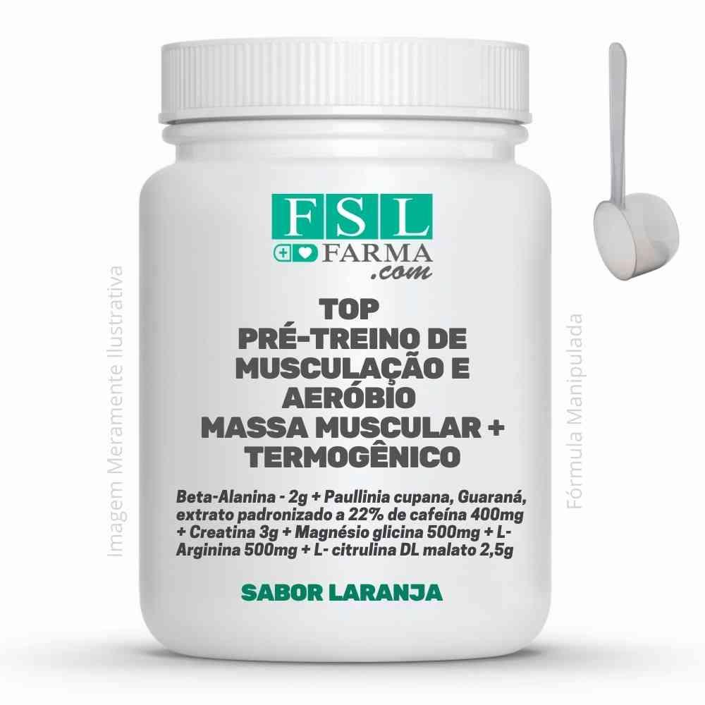 Top Pré-treino de Musculação e Aeróbio - Massa e Termogênico ®