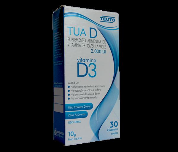 TUA D (Vitamina D3) 10g com 10 comprimidos - Teuto