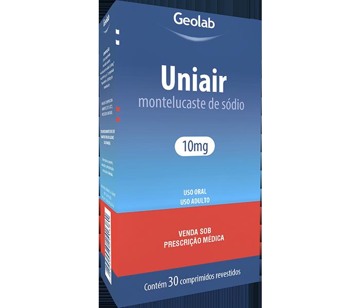Uniair 10mg com 30 comprimidos mastigáveis Geolab