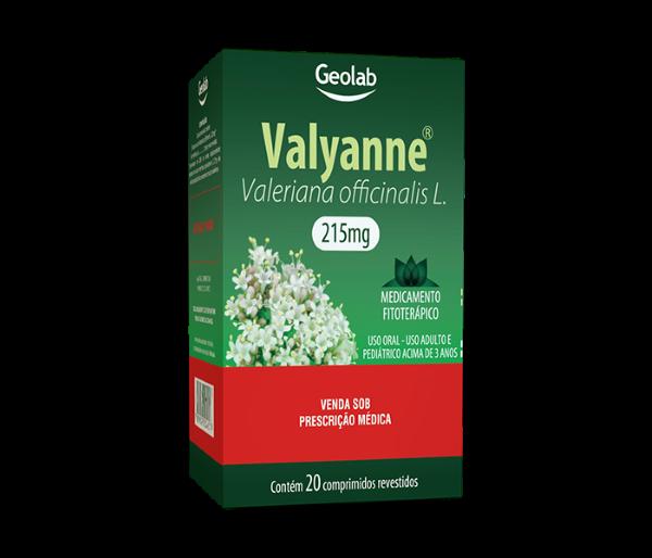 Valyanne 215mg com 20 comprimidos Geolab