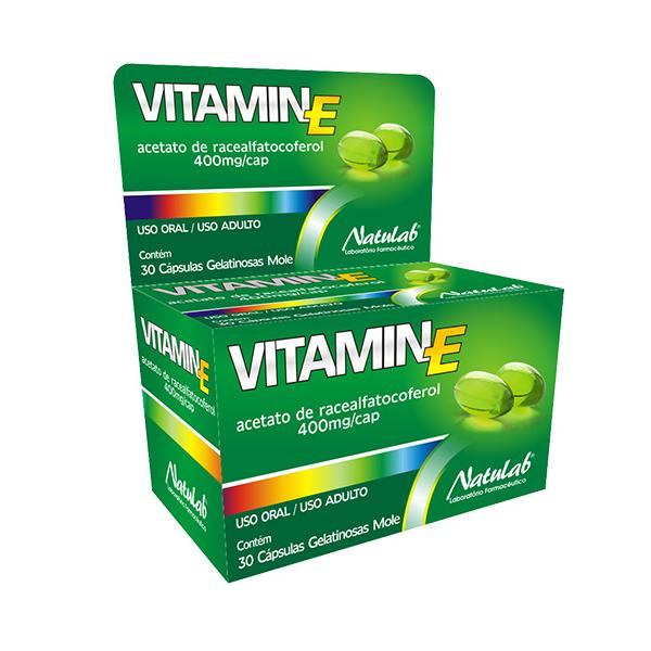 Vitamin E 400mg com 30 cápsulas - Natulab