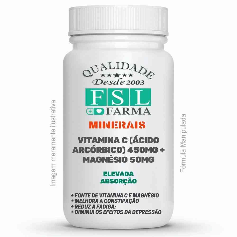 Vitamina C (Ácido Arcórbico) 450mg + Magnésio 50mg ®