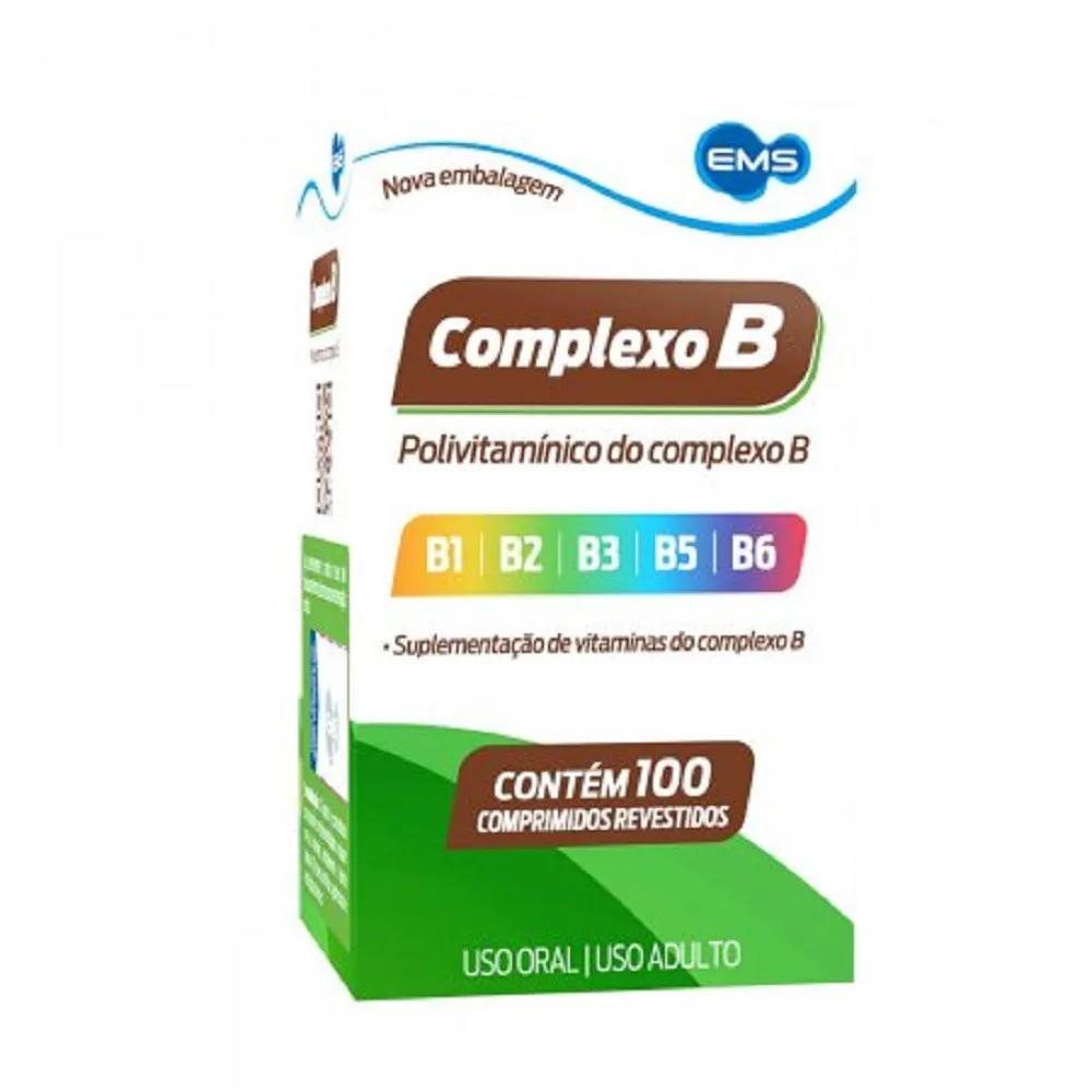 Vitamina Complexo B 100 Comprimidos Revestidos