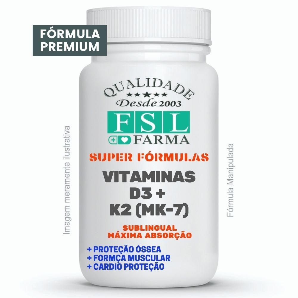 Vitamina D3 + K2 (MK-7) Sublingual