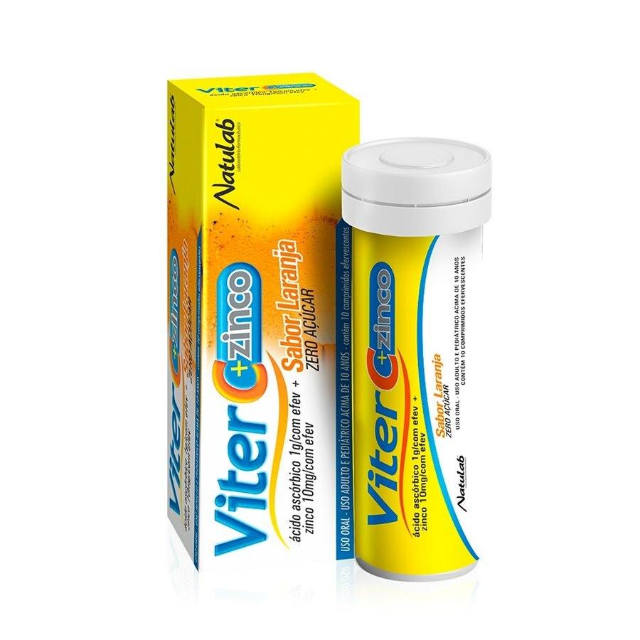 Viter C + Zinco 1g com 10 comprimidos - Natulab