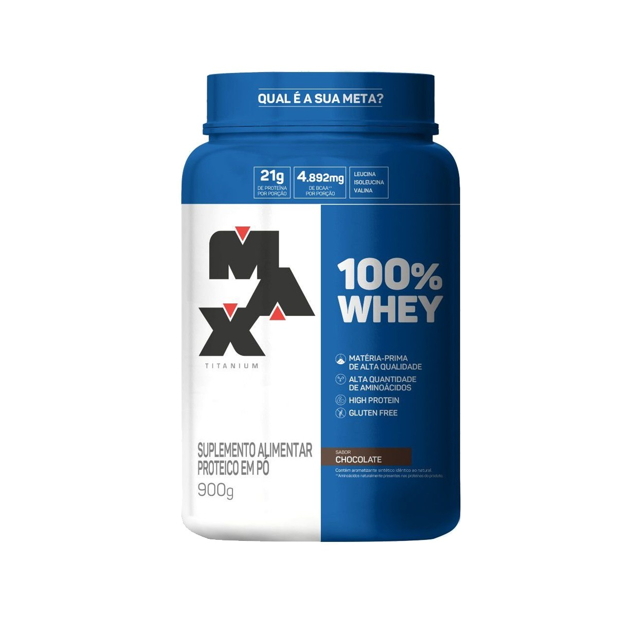 100% Whey Sabor Chocolate 900g - Max Titanium