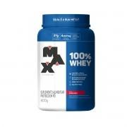 100% Whey Sabor Morango 900g  - Max Titanium
