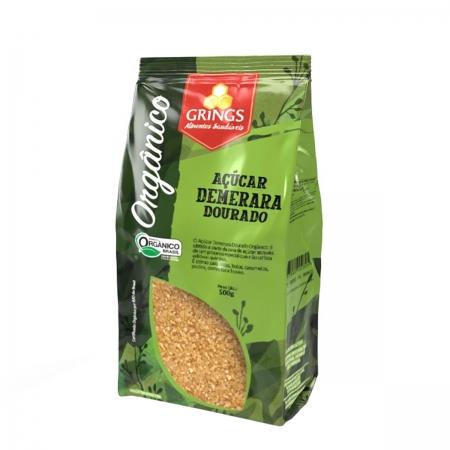 Açúcar Demerara Dourado Orgânico 500g - Grings