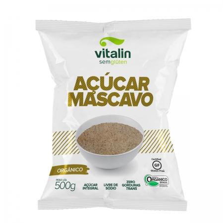 Açúcar Mascavo Orgânico 500g - Vitalin
