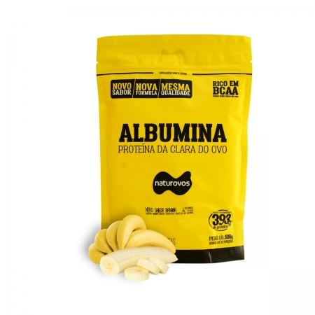 Albumina Proteína da Clara do Ovo Sabor Banana 500g - Naturovos