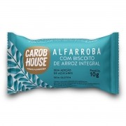 Alfarroba com Biscoito de Arroz Integral 10g - Carob House