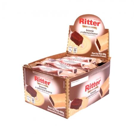 Barra de Cereal Brownie com Choc. Branco display com 24 un - Ritter