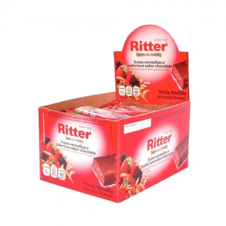 Barra de Cereal Frutas Vermelhas com Chocolate display com 24 un - Ritter