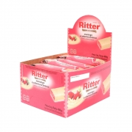 Barra de Cereal Morango com Chocolate Branco display com 24 un - Ritter