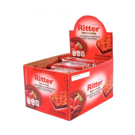 Barra de Cereal Morango com Chocolate display com 24 un - Ritter