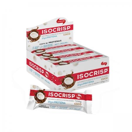 Barra de Proteína Isocrisp sabor Coco Display com 12 un - Vitafor