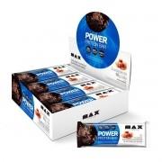 Barra de Proteína Power Protein Bar Sabor Milk Caramel display com 8 un de 90g - Max Titanium