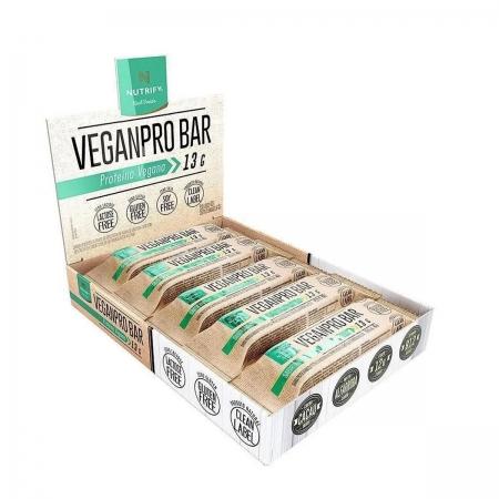 Barra de Proteína Vegana Sabor Amendoim Crocante Display 10un de 40g - Nutrify