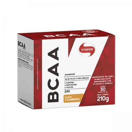 BCAA Aminofor Sabor Tangerina 30 Sachês de 7g - Vitafor