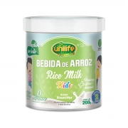 Bebida de Arroz Sabor Baunilha Kids 200g - Unilife