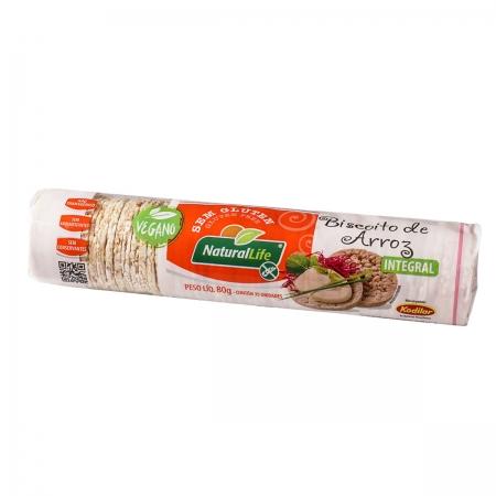 Biscoito de Arroz Integral Mini Sem Glúten  80g - NaturalLife