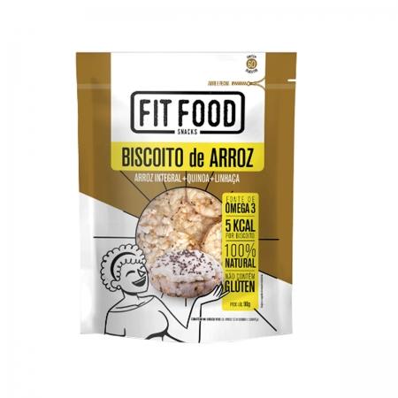 Biscoito de Arroz Quinoa e Linhaça 90g - Fit Food
