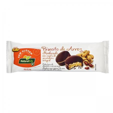 Biscoito de Arroz Recheado com Pasta de Amendoim Integral Sem Glúten 40g- NaturalLife
