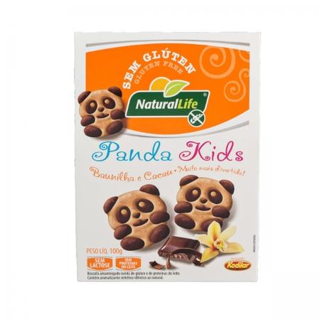 Biscoito de Panda Kids Sabor Baunilha e Cacau Sem Glúten Sem Lactose 100g - NaturalLife