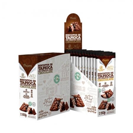 Biscoito de Tapioca com Cobertura de Chocolate Display 10x15g - Fhom