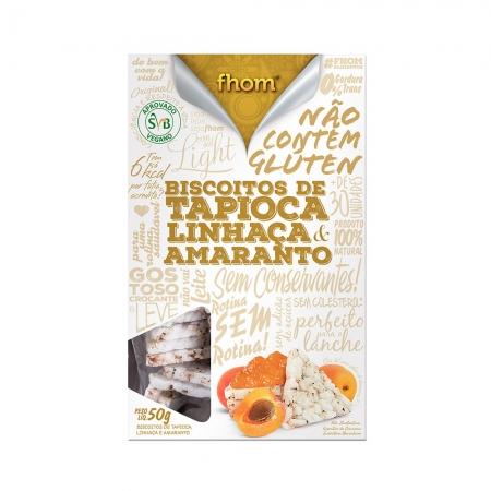 Biscoito de Tapioca Linhaça e Amaranto 50g- Fhom