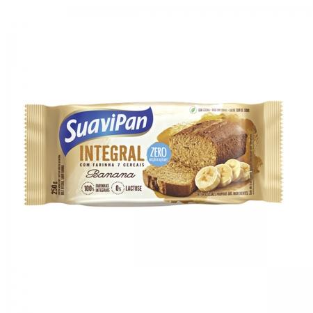 Bolo Integral Zero Açúcar Sabor Banana 250g - Suavipan