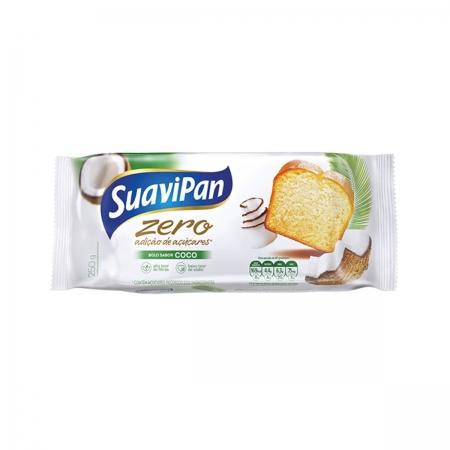 Bolo Zero Adição de Açúcares Sabor Coco 250g - Suavipan