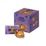 Bombom de Chocolate ao Leite com Caju e Canela Zero Display com 18 un. de 13,5g - Gold & Ko