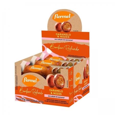 Bombom Recheado Caramelo e Nozes Display com 10un de 37,5g - Flormel