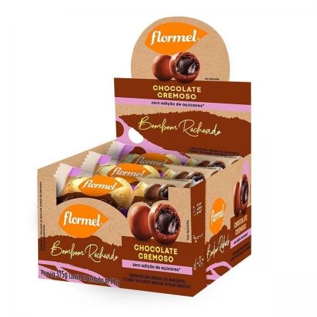Bombom Recheado Chocolate Cremoso Display com 10un de 37,5g - Flormel