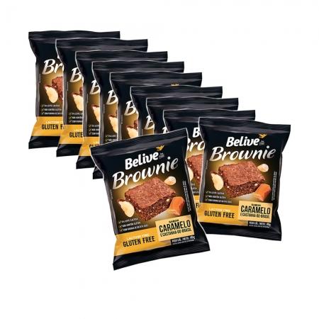 Brownie Sem Glúten Caramelo e Castanha do Brasil com 10 unidades de 40g - Belive