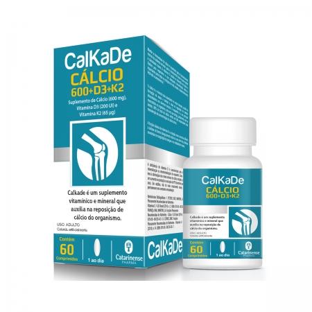 Cálcio CalKaDe 600mg 60 comprimidos - Catarinense