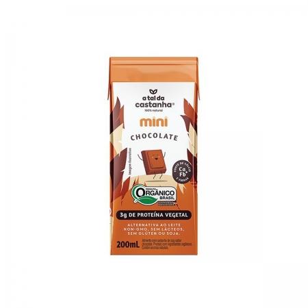 Castanha de Caju com Chocolate Mini Orgânico 200ml  - A Tal da Castanha