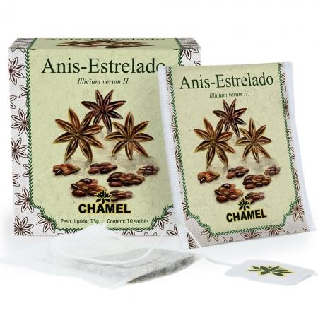 Chá de Aniz - Estrelado com 10 Sachês - Chamel