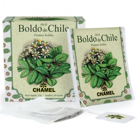 Chá de Boldo do Chile com 10 Sachês - Chamel