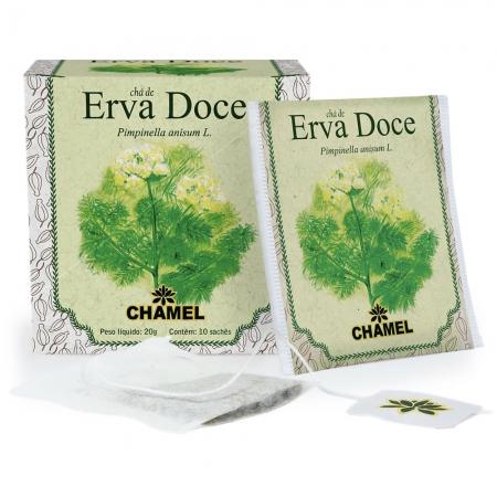 Chá de Erva Doce com 10 Sachês - Chamel